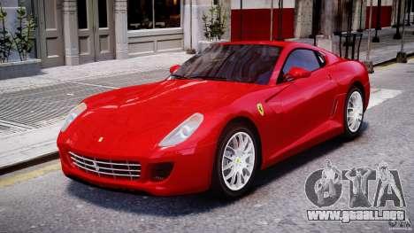 Ferrari 599 GTB Fiorano para GTA 4 left