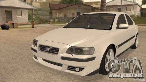 Volvo S60R para visión interna GTA San Andreas