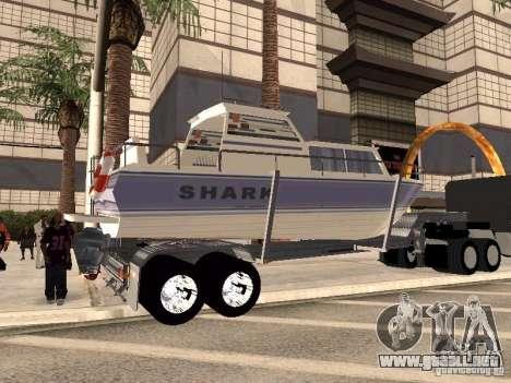 Boat Trailer para GTA San Andreas vista posterior izquierda