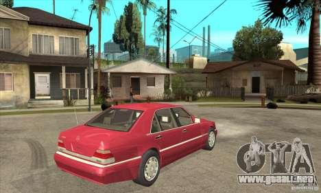 Mercedes-Benz S600 1999 para GTA San Andreas vista hacia atrás