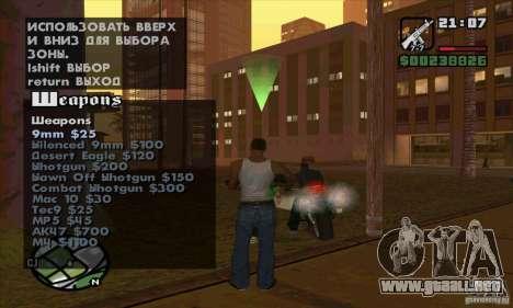 Gun Seller para GTA San Andreas séptima pantalla