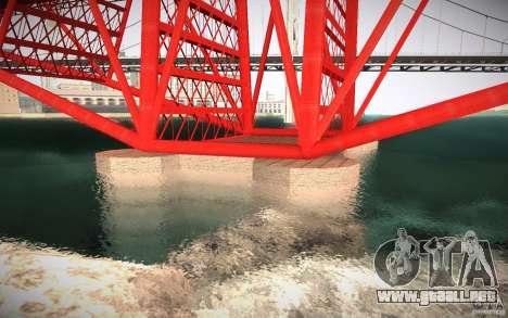 HD Red Bridge para GTA San Andreas sucesivamente de pantalla