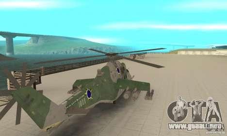 Un helicóptero desde el conflicto Global SSSR para GTA San Andreas vista posterior izquierda