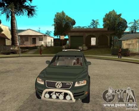 Volkswagen Touareg V10TDI 4x4 para GTA San Andreas vista hacia atrás