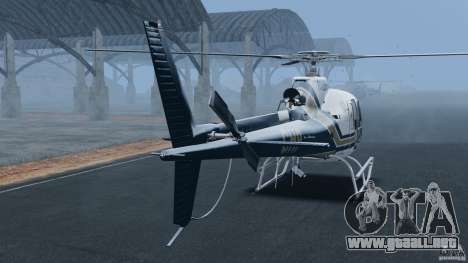 Eurocopter AS350 Ecureuil (Squirrel) para GTA 4 Vista posterior izquierda