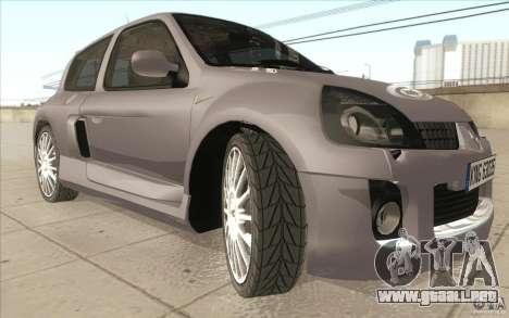 Renault Clio V6 para la vista superior GTA San Andreas