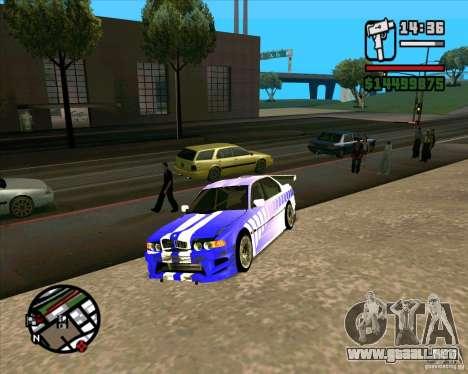 BMW 730i X-Games tuning para la visión correcta GTA San Andreas