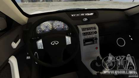 Infiniti G35 para GTA 4 vista interior