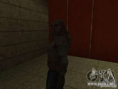 Controlador de S.T.A.L.K.E.R. para GTA San Andreas sucesivamente de pantalla