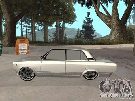VAZ 2105 luz Tuning para GTA San Andreas vista posterior izquierda