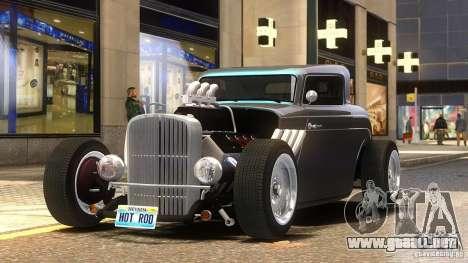 Custom Hot Rod 1933 para GTA 4 Vista posterior izquierda