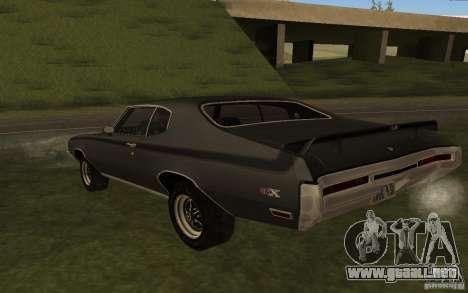 Buick GSX 1970 para GTA San Andreas vista posterior izquierda