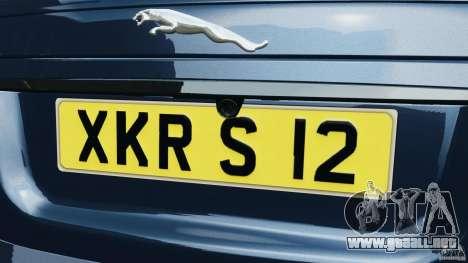 Jaguar XKR-S Trinity Edition 2012 v1.1 para GTA 4 interior