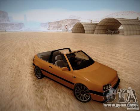 Volkswagen Golf MkIII Cabrio Custom 1995 para GTA San Andreas left