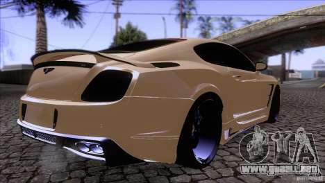 Bentley Continental GT Premier 2008 V2.0 para visión interna GTA San Andreas