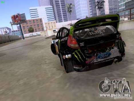 Ken Block Ford Fiesta 2012 para visión interna GTA San Andreas
