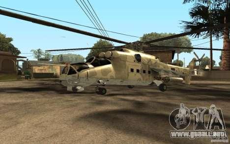 MI 24 para GTA San Andreas left