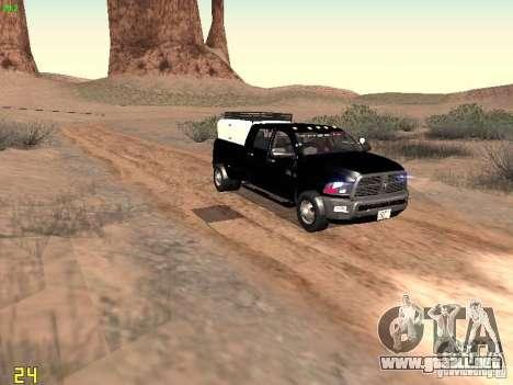 Dodge Ram 3500 Unmarked para visión interna GTA San Andreas