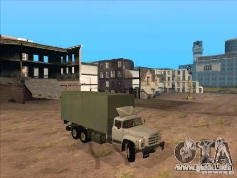 ZIL-133GÂ para GTA San Andreas vista posterior izquierda