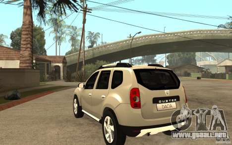 Dacia Duster 2010 SUV 4x4 para GTA San Andreas vista posterior izquierda