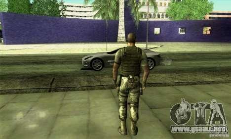 Sam Fisher Army SCDA para GTA San Andreas segunda pantalla