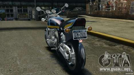 Kawasaki Zephyr para GTA 4 Vista posterior izquierda