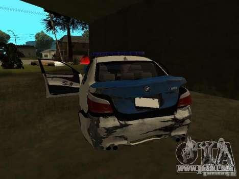 BMW 5-er Police para la vista superior GTA San Andreas