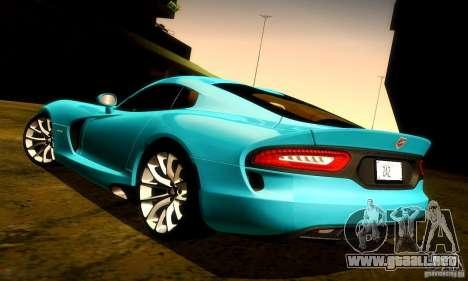 Dodge Viper SRT  GTS para el motor de GTA San Andreas