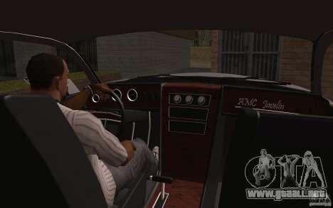 AMC Javelin 2010 para vista lateral GTA San Andreas