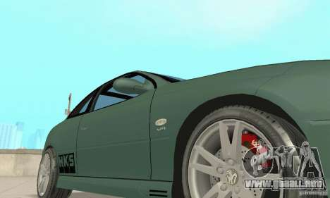 Vauxhall Monaro VXR Open SKY 2004 para la vista superior GTA San Andreas