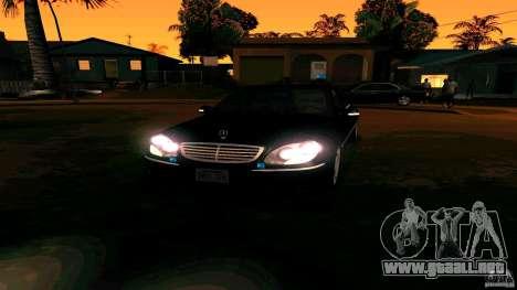 Mercedes S500 para GTA San Andreas vista hacia atrás