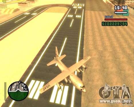 C-130 hercules para vista lateral GTA San Andreas