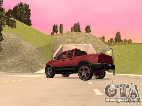 Dodge Ram 2010 para GTA San Andreas vista posterior izquierda