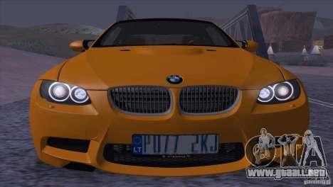 BMW M3 E92 para visión interna GTA San Andreas