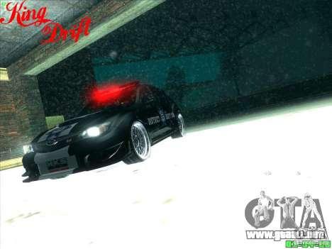Subaru Impreza WRX Police para vista inferior GTA San Andreas