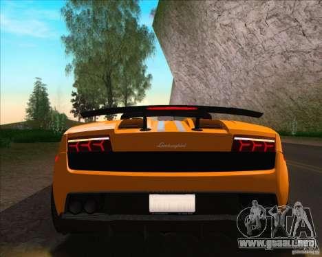 Lamborghini Gallardo LP570-4 Spyder Performante para GTA San Andreas vista hacia atrás