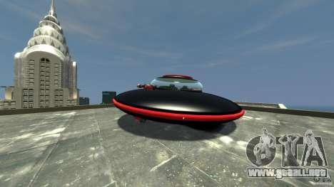 UFO neon ufo red para GTA 4 Vista posterior izquierda