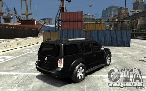 Nissan Pathfinder 2006 para GTA 4 visión correcta