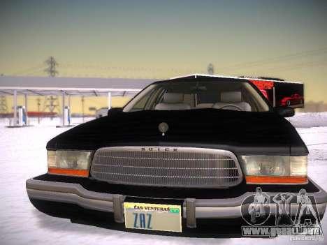 Buick Roadmaster 1996 para visión interna GTA San Andreas