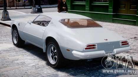 Pontiac Firebird Esprit 1971 para GTA 4 visión correcta