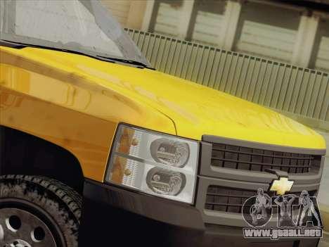 Chevrolet Silverado 2500HD 2013 para visión interna GTA San Andreas
