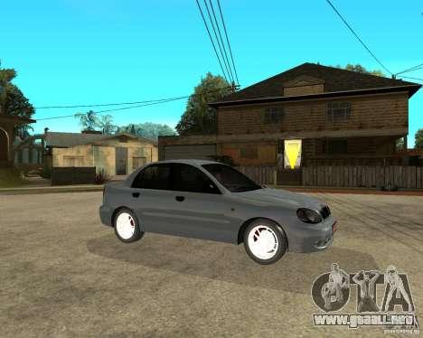 Daewoo Lanos para la visión correcta GTA San Andreas