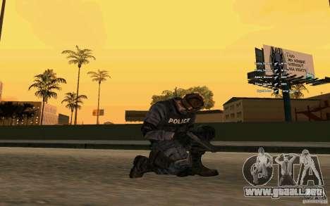 SWAT piel para GTA San Andreas tercera pantalla