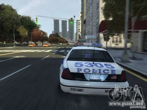 Ford Crown Victoria NYPD 2012 para GTA 4 vista lateral