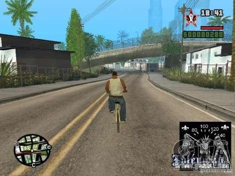 Nuevo velocímetro para GTA San Andreas sucesivamente de pantalla
