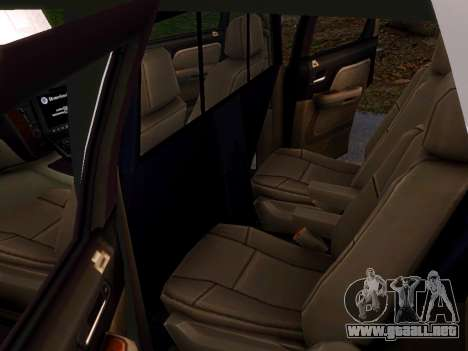 Chevrolet Tahoe Homeland Security para GTA 4 vista interior