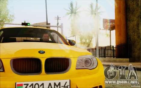 BMW 1M Coupe para GTA San Andreas vista hacia atrás