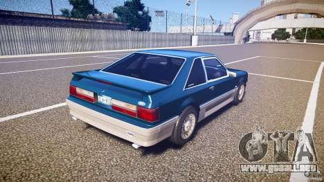 Ford Mustang GT 1993 Rims 1 para GTA 4 vista lateral