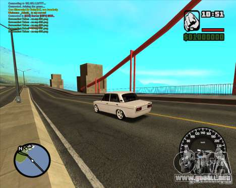 2106 Vaz tuning para GTA San Andreas left