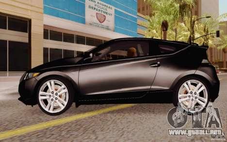Honda CR-Z 2010 V3.0 para GTA San Andreas left